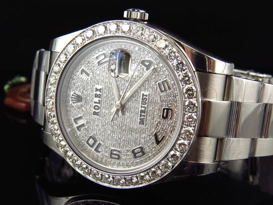 Rolex Custom Mens New 41 MM 116300 Date Just Il 2 With Genuine Diamonds 7 Ct Image 3