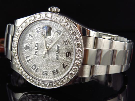Rolex Custom Mens New 41 MM 116300 Date Just Il 2 With Genuine Diamonds 7 Ct Image 4