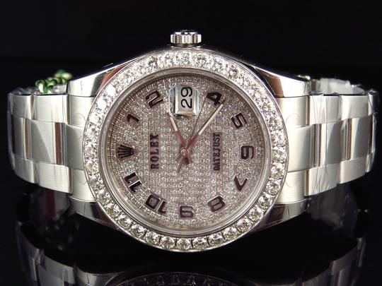 Rolex Custom Mens New 41 MM 116300 Date Just Il 2 With Genuine Diamonds 7 Ct Image 6