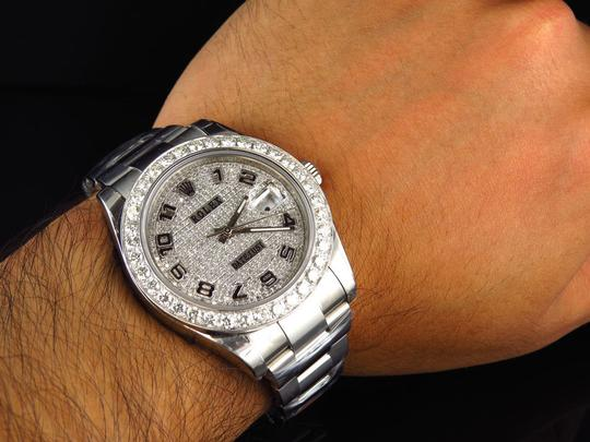 Rolex Custom Mens New 41 MM 116300 Date Just Il 2 With Genuine Diamonds 7 Ct Image 7