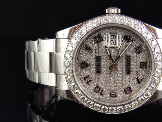 Rolex Custom Mens New 41 MM 116300 Date Just Il 2 With Genuine Diamonds 7 Ct Image 8