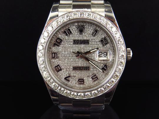 Rolex Custom Mens New 41 MM 116300 Date Just Il 2 With Genuine Diamonds 7 Ct Image 9