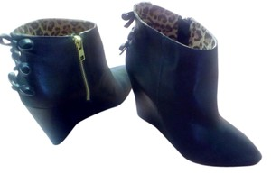 Betsey Johnson Booties Black Wedges