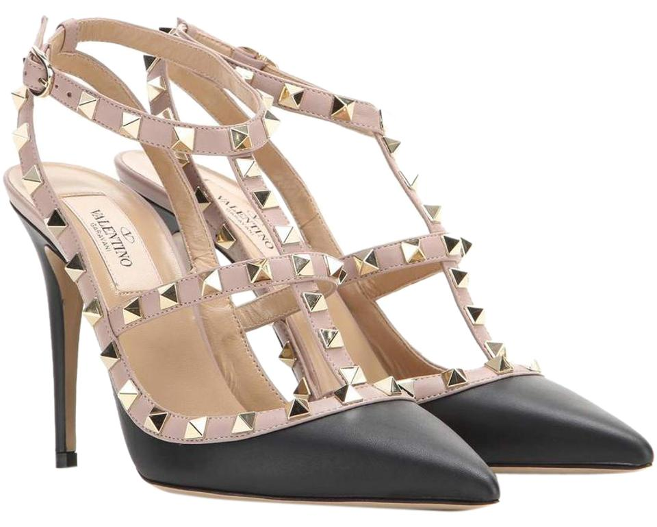 valentino sale new rockstud 37 cage leather heels black pumps on sale 33 off pumps on sale. Black Bedroom Furniture Sets. Home Design Ideas