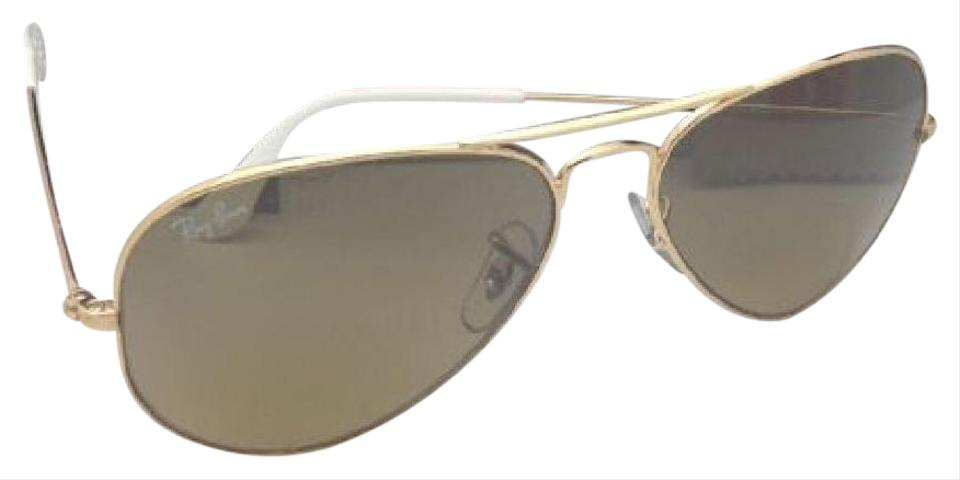 1bb153c1414 Ray-Ban New Rb 3025 001 3k 55-14 135 Gold Aviator W  Brown+silver ...