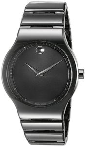 Movado MOVADO Cerami Black Dial Men's Ceramic Watch