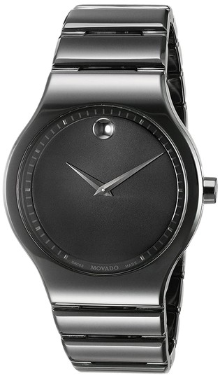 Movado MOVADO Cerami Black Dial Men's Ceramic Watch Image 0