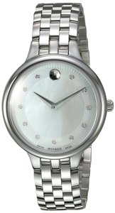 Movado Trevi Mother of Pearl Dial Stainless Steel Ladies Watch