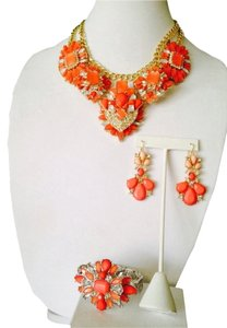 Embellished by Leecia 3-Piece Set Faceted Shades Of Orange