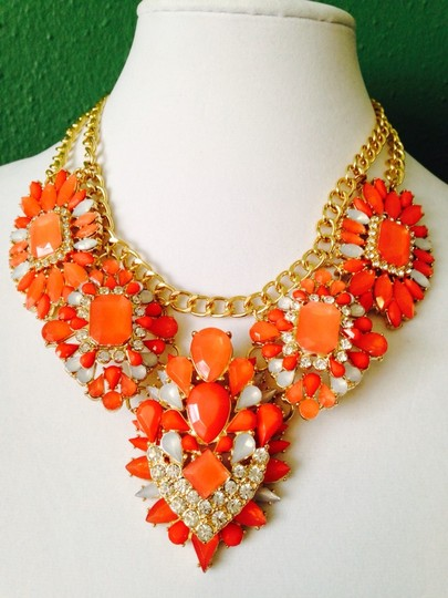Other Embellished by Leecia 3-Piece Set Faceted Shades Of Orange Image 1