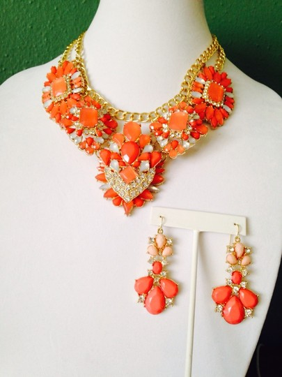 Other Embellished by Leecia 3-Piece Set Faceted Shades Of Orange