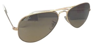 Ray-Ban RAY-BAN Sunglasses RB 3025 001/3K 58-14 Gold Aviator w/ Brown+Mirror