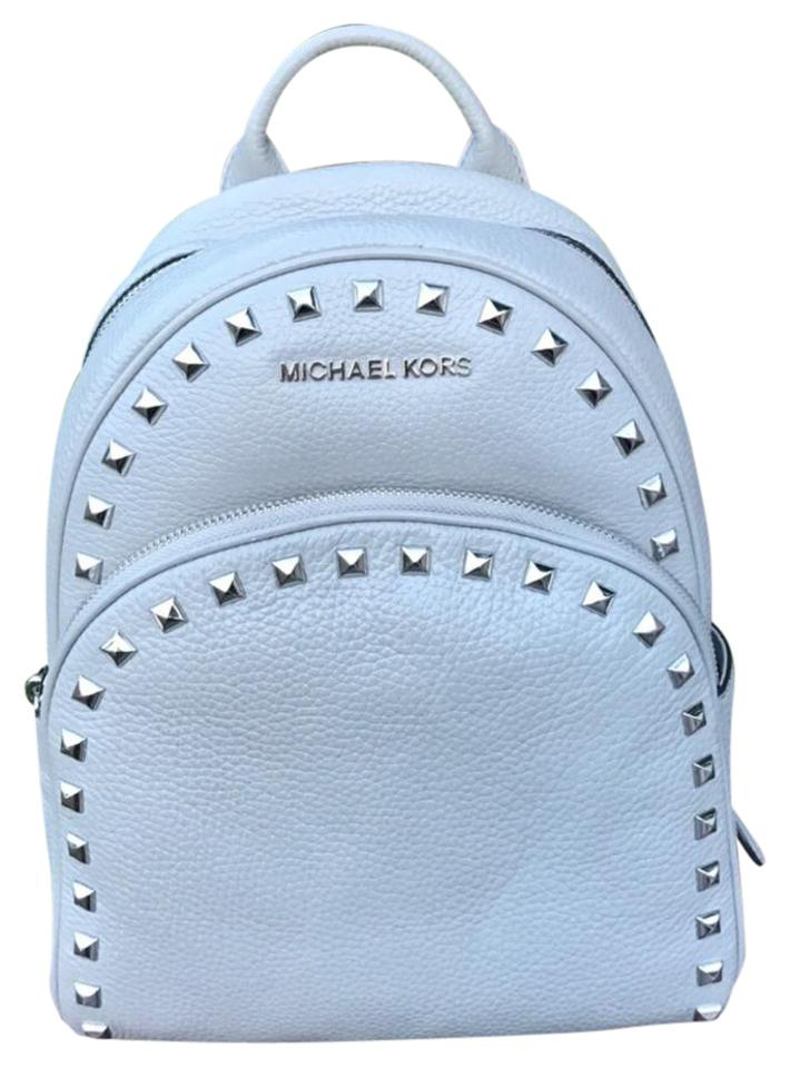 1304bb09b000 MICHAEL Michael Kors Abbey Studded Pearl Grey Leather Backpack - Tradesy