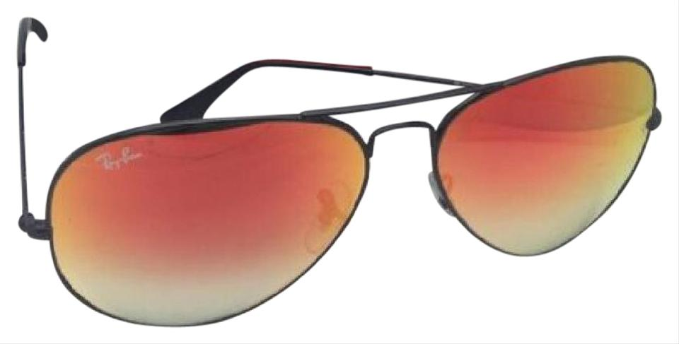 081e7257c21 Ray-Ban New Rb 3025 002 4w 62-14 Black Aviator W  Red Mirror ...