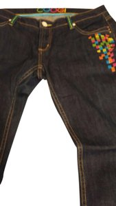 Coogi Embroidered Dark Wash Girl Relaxed Fit Jeans