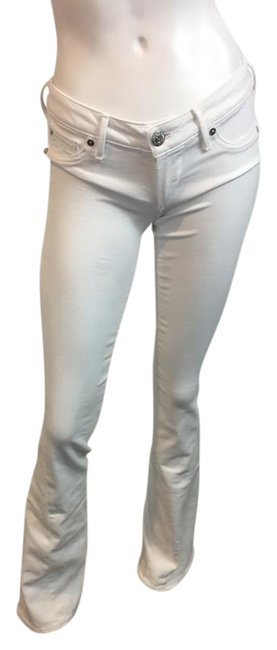 Item - White Light Wash 8141717 Joey Low Flare Leg Jeans Size 26 (2, XS)