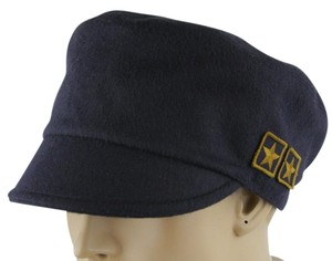 470f837aeac Gucci Gucci Dark Blue Wool Cap with Gold Military Badges M 386814 4072