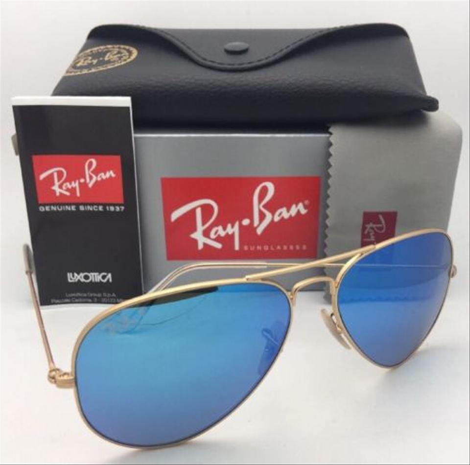 d9a616e03d5 Ray-Ban Polarized Rb 3025 Large Metal 112 4l Matte Gold W Blue Mirror 112 4l  Sunglasses - Tradesy