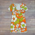 Trina Turk Multi Orange Kumquat Musita Floral Short Cocktail Dress Size 4 (S) Trina Turk Multi Orange Kumquat Musita Floral Short Cocktail Dress Size 4 (S) Image 6