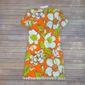 Trina Turk Multi Orange Kumquat Musita Floral Short Cocktail Dress Size 4 (S) Trina Turk Multi Orange Kumquat Musita Floral Short Cocktail Dress Size 4 (S) Image 7