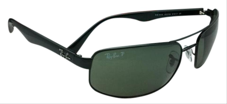 1558044fb7fe3 Ray-Ban Polarized Rb 3445 002 58 61-17 130 Black Frame W Green ...