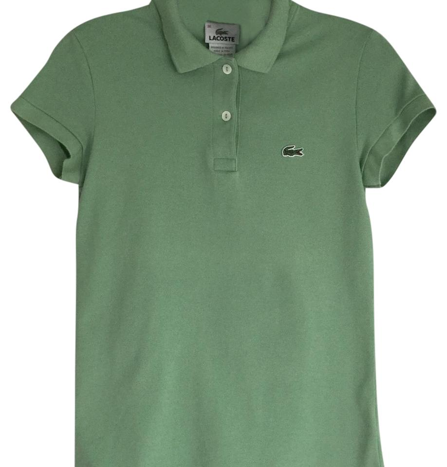 Lacoste green classic polo tee shirt size 4 s tradesy for Lacoste size 4 polo shirt