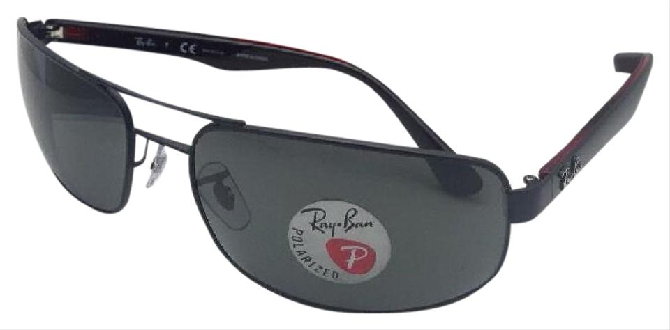 738104b70f2a1 Ray-Ban Polarized Rb 3445 006 P2 61-17 130 Matte Black Frame W  Grey ...