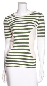 Céline T Shirt Cream & Green