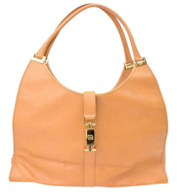 Item - Jackie Hobo O Large Tote Shoulder Yellow Leather Weekend/Travel Bag