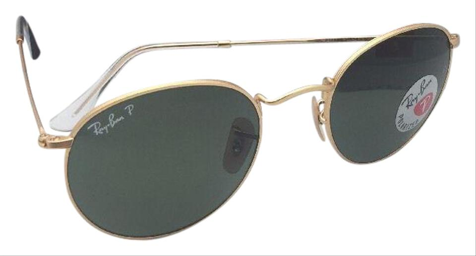 ce0096e717 Ray-Ban Polarized RAY-BAN Sunglasses ROUND METAL RB 3447 112 58 Matte ...