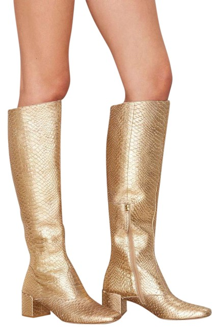 Item - Gold Truth Be Knee High Leather Boots/Booties Size US 8.5 Regular (M, B)