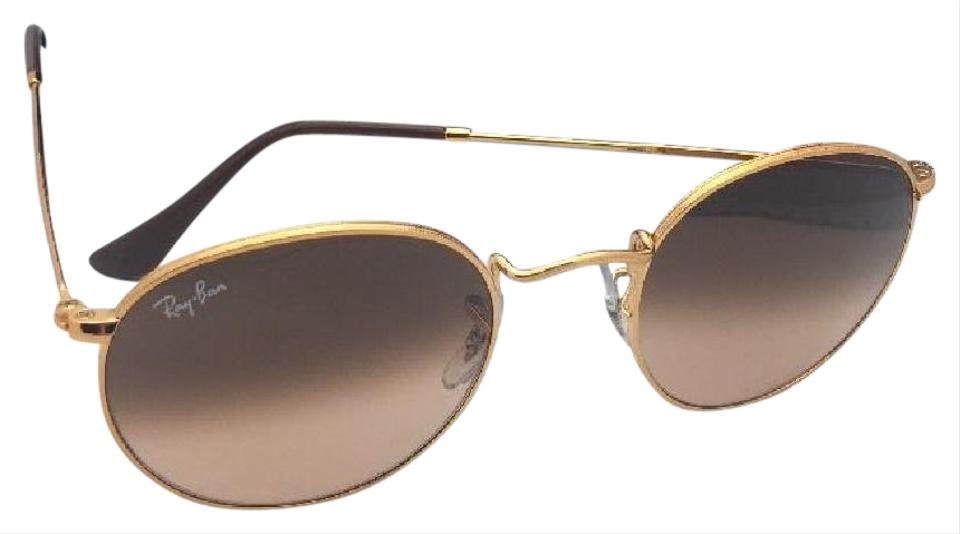 Ray Ban Round Metal Rb 3447 9001 A5 47 21 Bronze W Brown Fade Pink 9001 A5 W Sunglasses