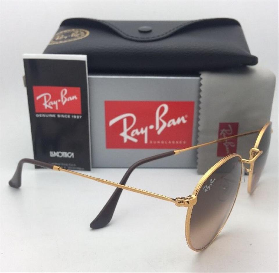 62a329bc4c Ray-Ban Round Metal Rb 3447 9001 A5 47-21 Bronze W  Brown Fade Pink ...