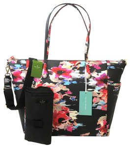 Kate Spade Floral Black Diaper Bag