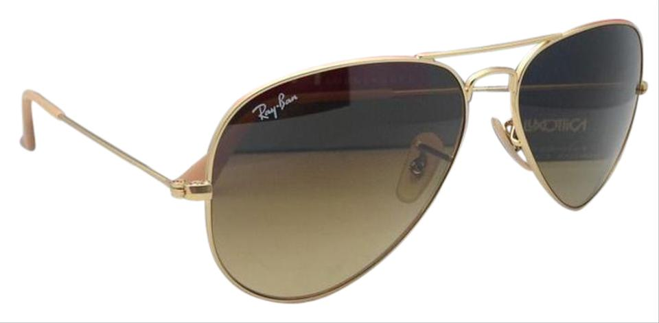 53f632e6a9 Ray-Ban Rb 3025 Large Metal 112 85 55-14 Matte Gold W  Brown ...
