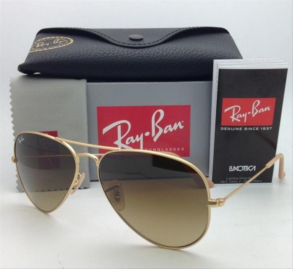 cf9f560cba2 Ray-Ban Rb 3025 Large Metal 112 85 55-14 Matte Gold W  Brown Gradient  112 85 W  Fade Sunglasses - Tradesy