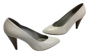 Sesto Meucci Lining Soles Made Italy Bone all leather stack wood heels Italian Pumps