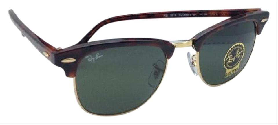 111192929c Ray-Ban CLUBMASTER Ray-Ban Sunglasses RB 3016 W0366 49-21 Tortoise  ...