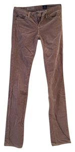 AG Adriano Goldschmied Corduroy Straight Pants Tan Cords