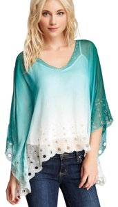 Blue Tassel Top Aqua / Emerald / Ivory