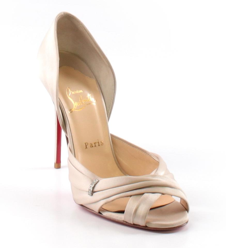 fd0505a5eec6 Christian Louboutin Evening Jewel Satin D orsay Tres Ophrah Pearl Pumps  Image 0 ...
