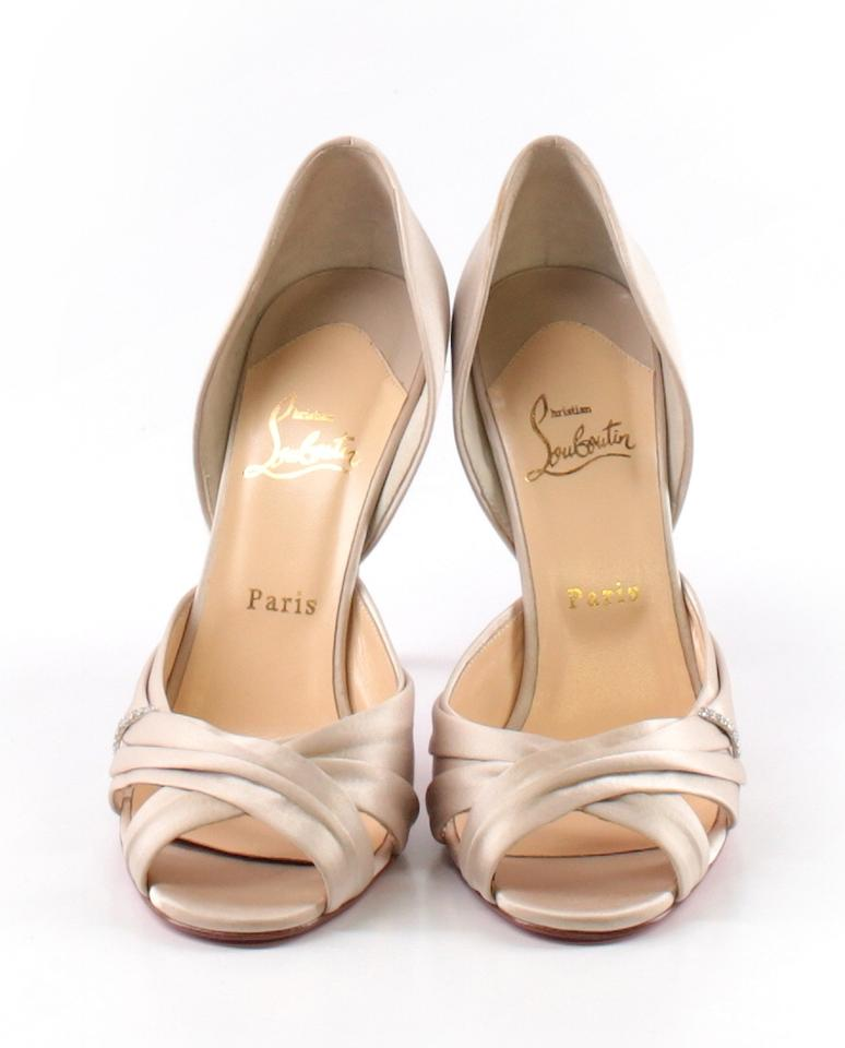 ee93a33aaac9 Christian Louboutin Pearl Tres Ophrah 100 Satin 40 Pumps Size US 10 Regular  (M