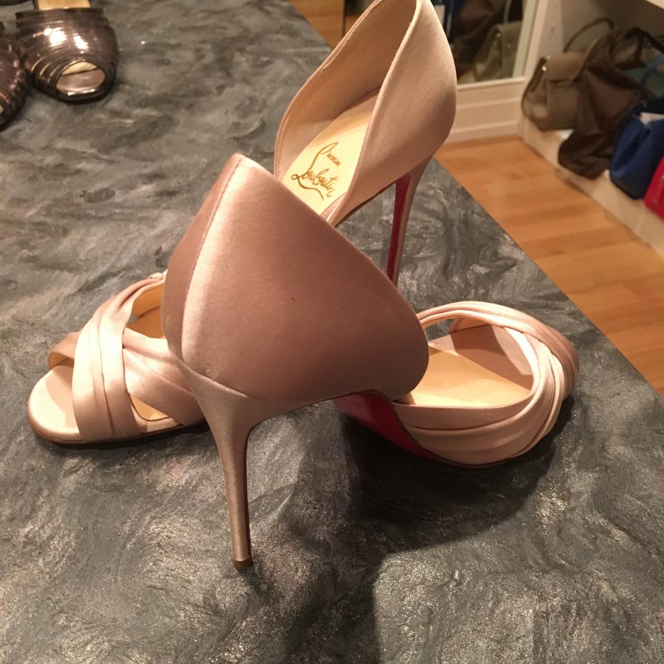 383459eac5f2 Christian Louboutin Evening Jewel Satin D orsay Tres Ophrah Pearl Pumps  Image 7. 12345678