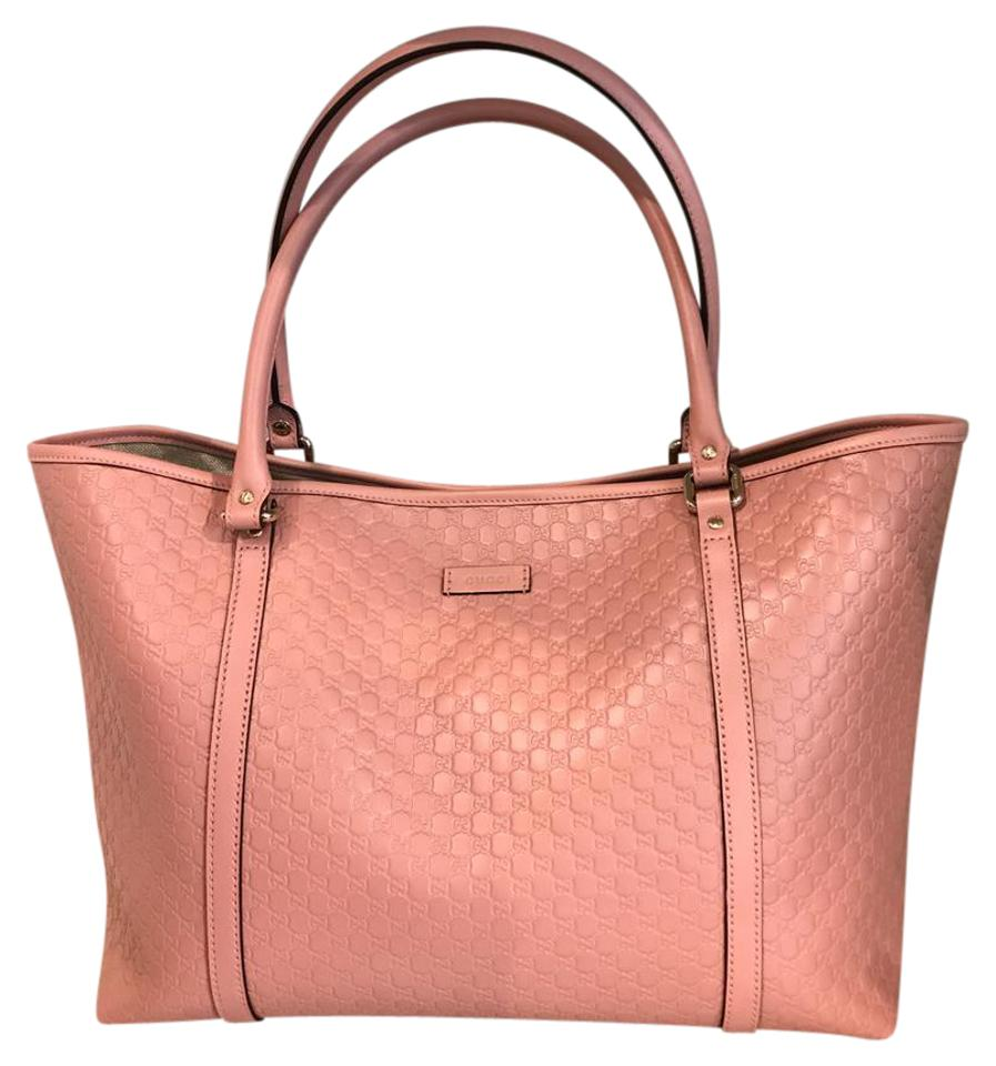 feba641882a Gucci Large Gg Soft Pink Leather Tote - Tradesy