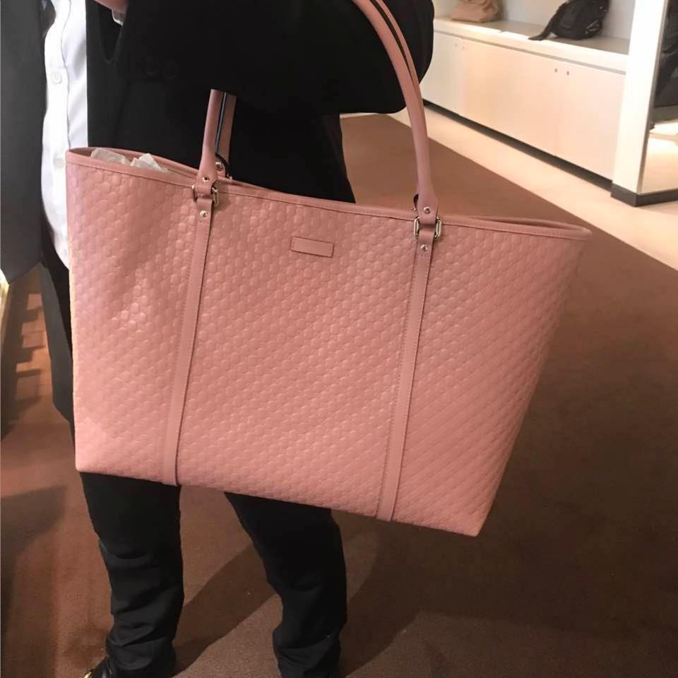 493f487784159 Gucci Large Gg Soft Pink Leather Tote - Tradesy