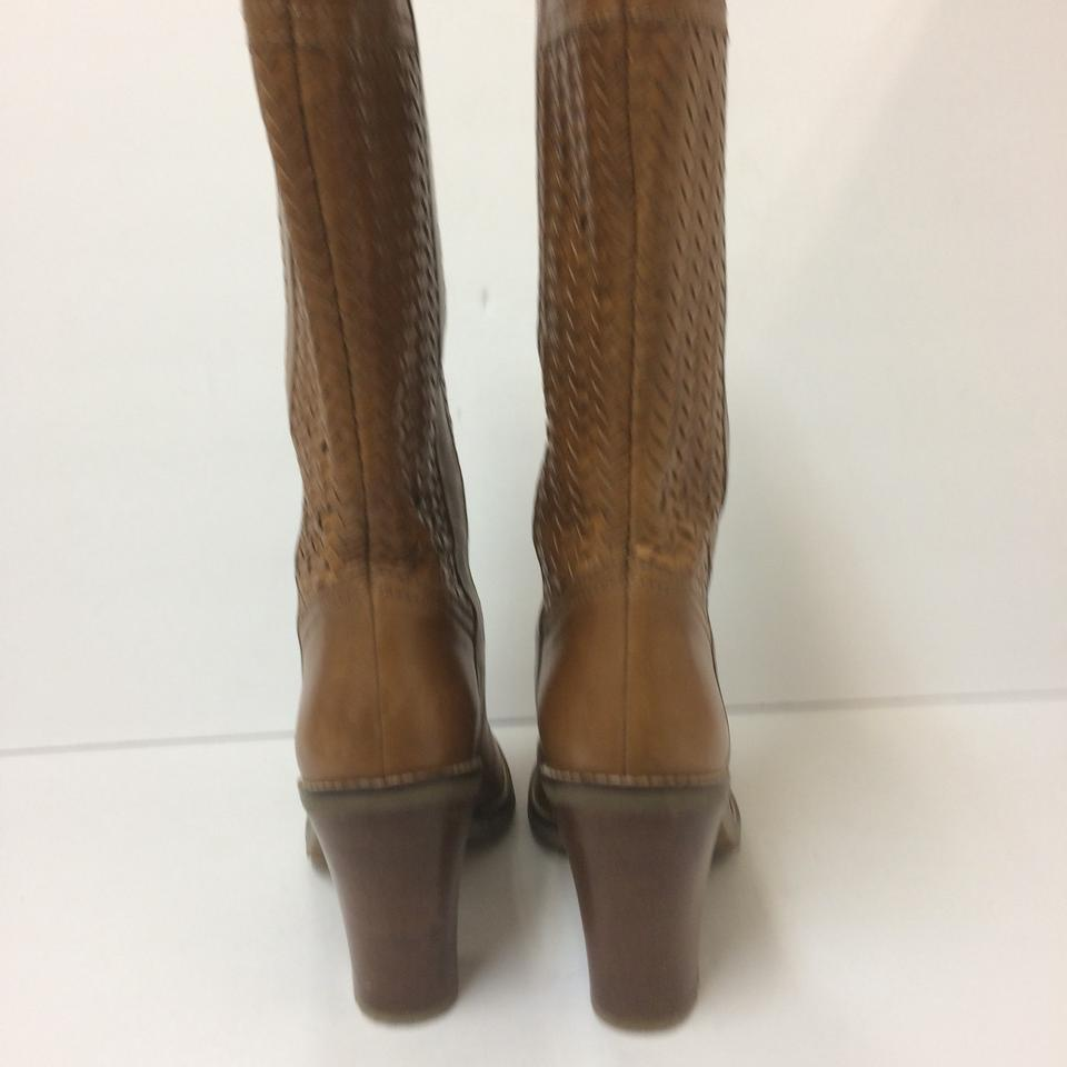 aaceb65539 Cole Haan Woven Pull On Basket Weave Boho tan Boots Image 10. 1234567891011