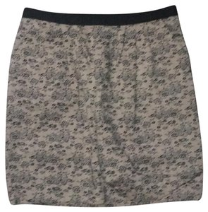 Jason Wu Mini Skirt Black and Pink/mauve