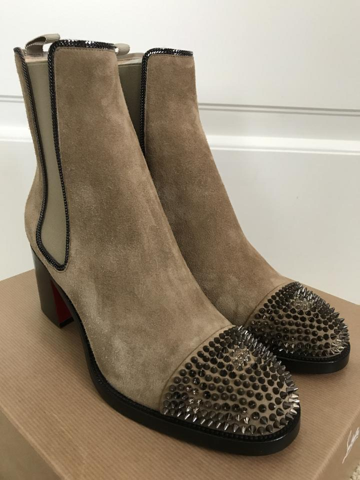 ce255d4a7cf0 Christian Louboutin Tan Otaboo 70 Suede Spiked Toe Chelsea Boots Booties  Size US 9.5 Regular (M