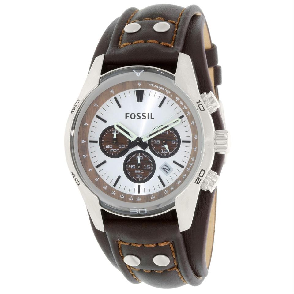 2af60519c Fossil Coachman Chronograph Brown Leather Men's Casual Watch Style Quartz  Image 0 ...