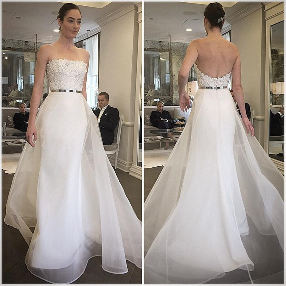 Romona Keveza Ivory Silk Crepe Organza Rk6403 Modern Wedding Dress ...